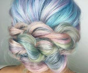 braid, bun, and pink image
