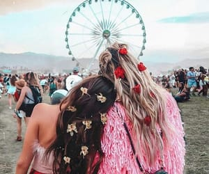girl, friends, and coachella image