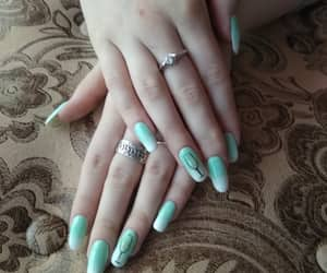 mint ombré, my nail's, and super nail's image