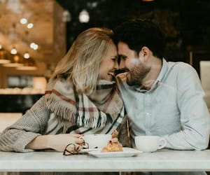 couple, date, and coffee time image
