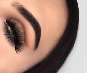 green eye, smokey, and makeup image
