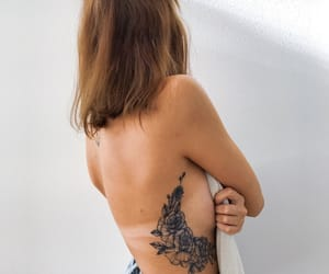girl, ink, and tattoo image
