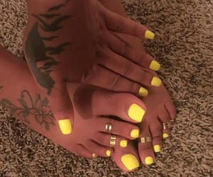 nails, style, and tattoo image
