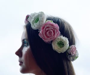 crown, flowers, and girl image