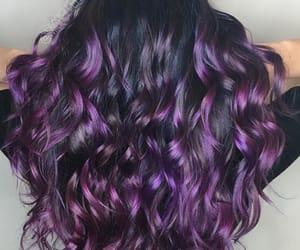 coloured hair, hair, and purple image