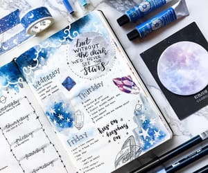 bullet journal and blue image