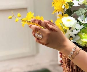 arab, flowers, and hand image