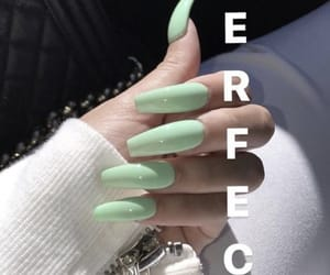 nails, green, and perfect image