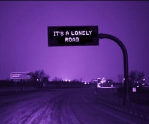 lonely, road, and grunge image