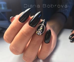 black, geometry, and nails image