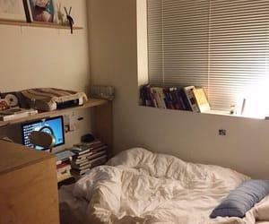bed, college, and bedroom image