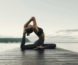 yoga, fitness, and girl image