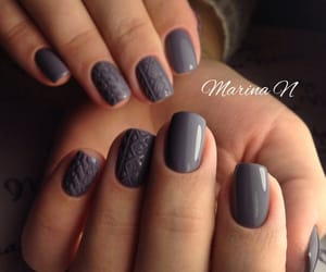 frosted, gray, and knitting image