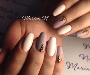 frosted, nails, and rhinestone image