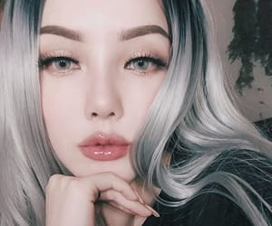 dye, grey, and hair image