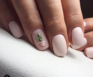 nails, art, and cactus image