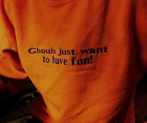 orange, aesthetic, and ghoul image