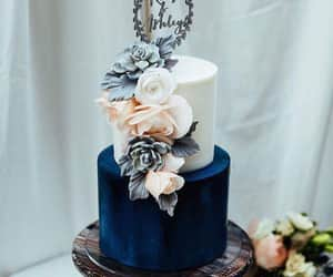 blue, wedding goals, and cake image