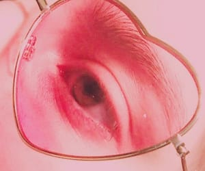 beautiful, glasses, and rosy image