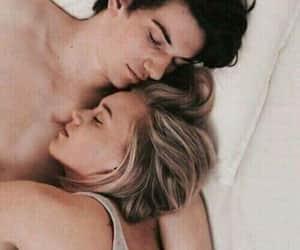 couples, lovers, and sleep image
