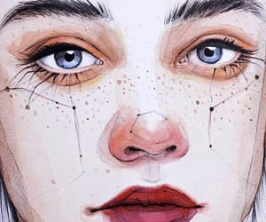 art, stars, and face image