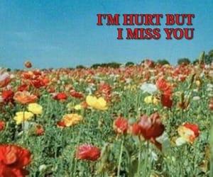 flowers, hurt, and miss u image