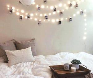 beautiful room, bedroom, and lights image