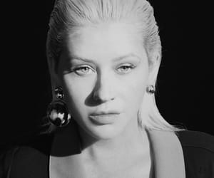 black and white, christina aguilera, and face image
