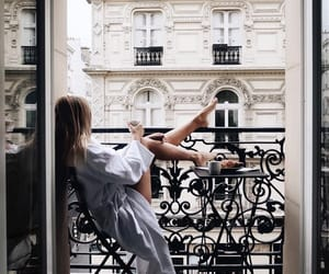 girl, paris, and morning image