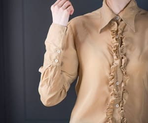 etsy, long sleeves blouse, and ruffle blouse image