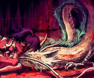 spirited away, chihiro, and dragon image
