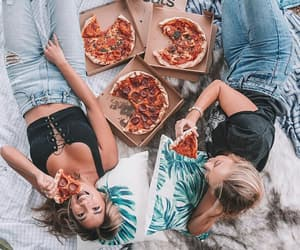 fashion, pizza, and food image