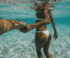summer, love, and couple image