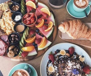 coffee, fruit, and healthy image