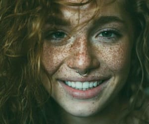 freckles, smile, and beauty image