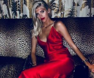 models, red dress, and instagram image