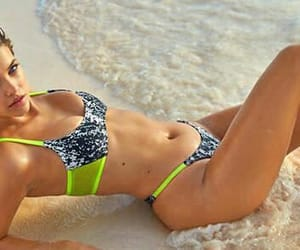 beach, girl, and bikini image