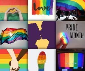 pictures, rainbow, and love image