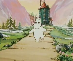 aesthetic, ♡, and moomin image