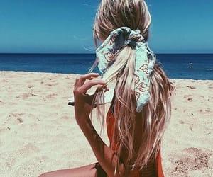 girl, beach, and hair image