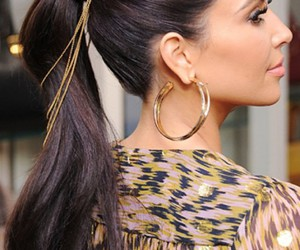 hair, kim kardashian, and kardashian image