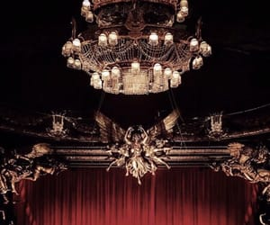 chandelier, red, and architecture image