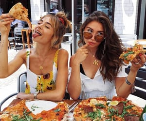 pizza, friends, and food image