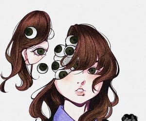 creepy, eyes, and horror image