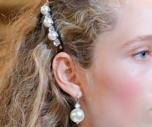 fashion, hair, and pearls image
