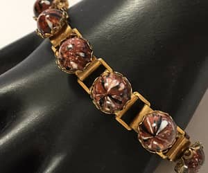 etsy, gold tone bracelet, and tailored look image