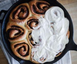 cinnamon rolls and food image