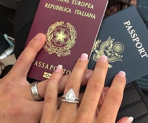 couple, passport, and travel image