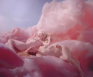 pink, art, and clouds image