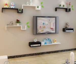 wall shelf, wood shelf, and floating shelf image